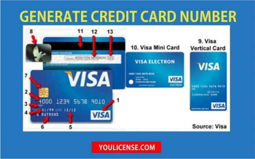 Credit Cards Numbers Generator in 2018