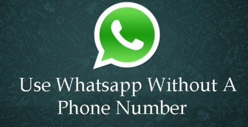 use whatsapp without a phone number