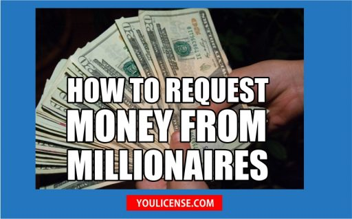how to request money from millionaires