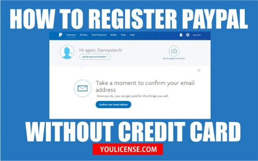 how to register paypal without credit card