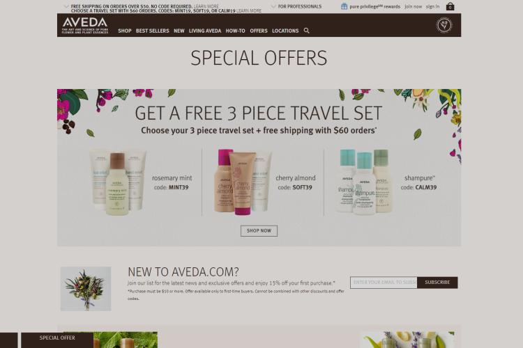 Aveda Samples with Free