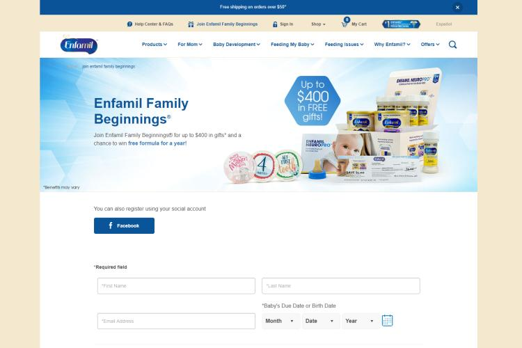 Free Samples by Mail Free Shipping 2019: Enfamil family