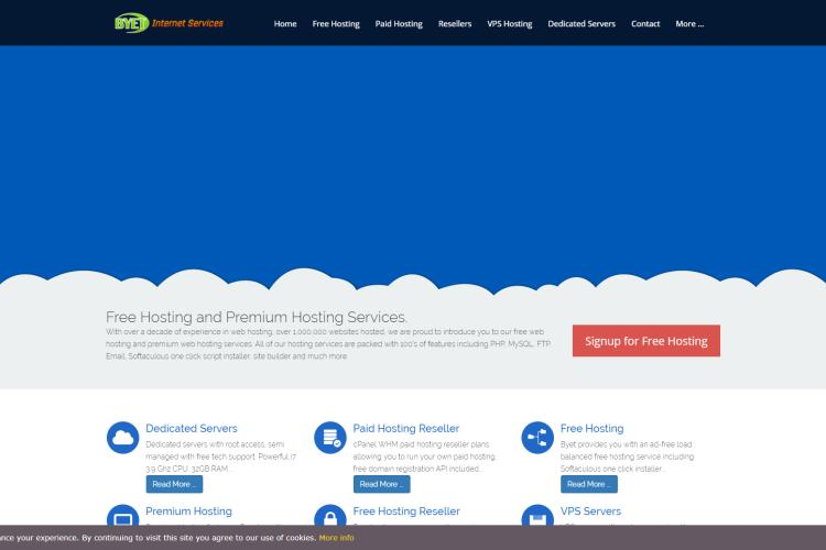 57 Best Free Web Hosting Sites 2019 (Reviews & Comparison): Byethost