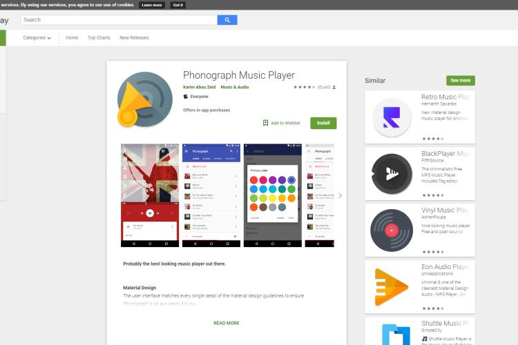 Best Android Music Player - Phonograph Music Player
