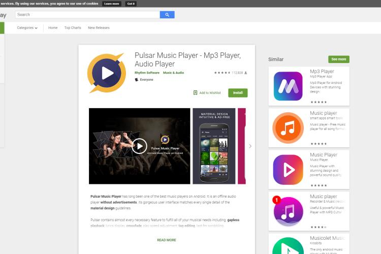 Best Android Music Player - Pulsar Music Player