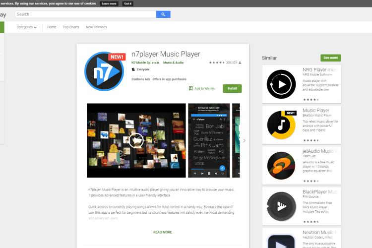 Best Android Music Player - n7player Music Player