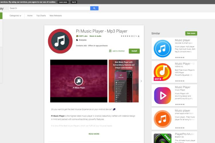 Best Android Music Player - Pi Music Player