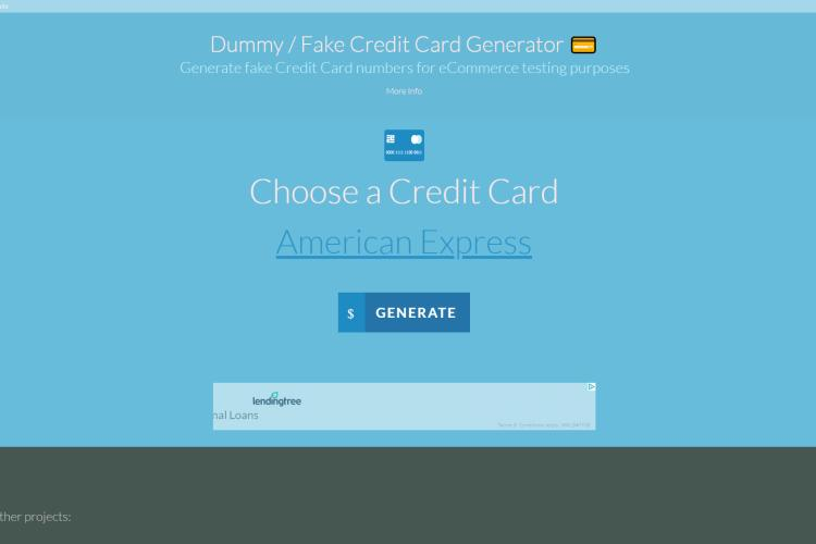Credit Card Generator with CVV and Expiration Date and Name 2019: Saijo George