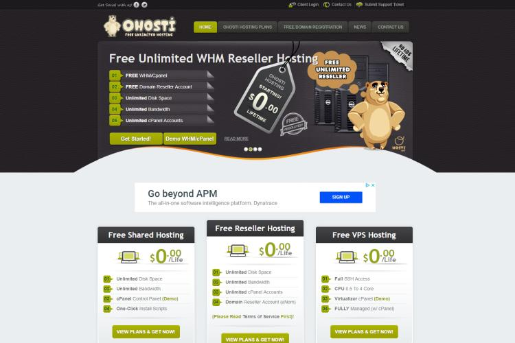 Best Free VPS with OHosti