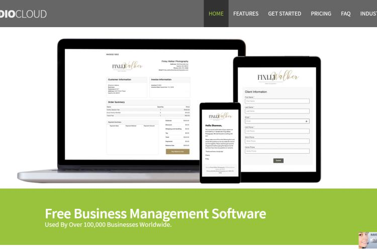 Business Management Software StudioCloud