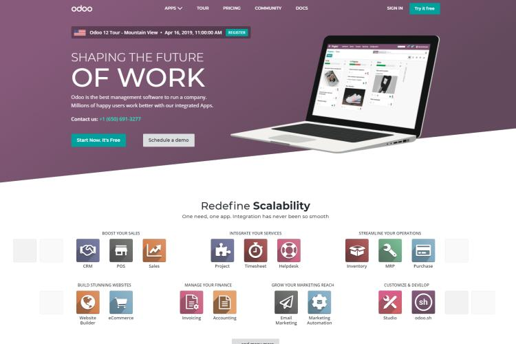 10 Best Business Management Software 2019: Odoo
