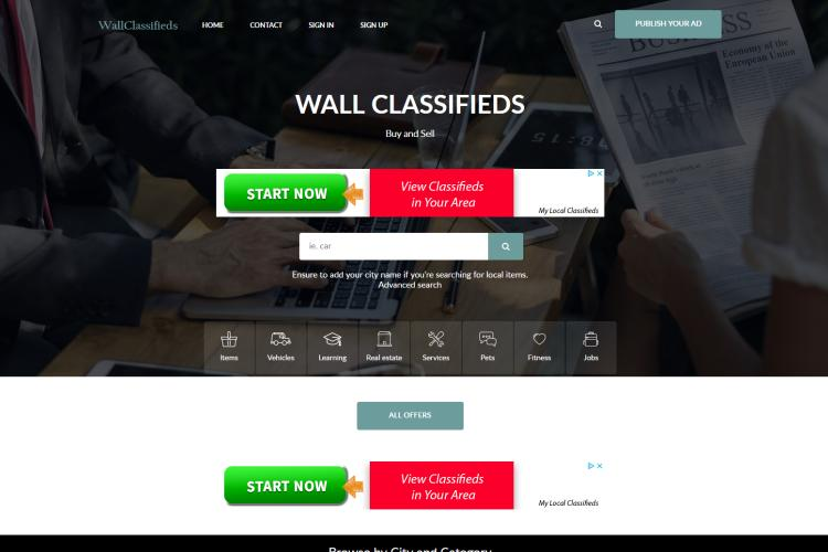 Best Free Sites like Craigslist for Free Ads: WallClassifieds.com