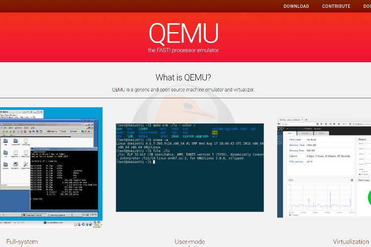 10+ Best Virtual Machine Software 2019: Qemu